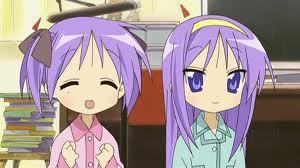 Kagami and Tsukasa Hiiragi off of lucky estrela they are so cute!!