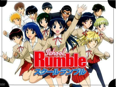 I personally recomend: -School Rumble -Martian Sucessor Nadesico -Elemental Gelade Hope you like my answer! Oh and one mais thing....... .............. SCHOOL RUMBLE FORVER!