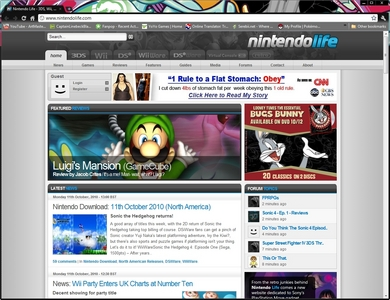 Nintendo Life, Google Chrome.