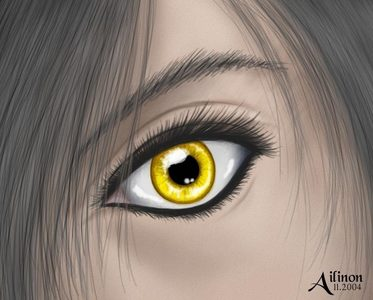 I would have yellow/amber eyes! :D