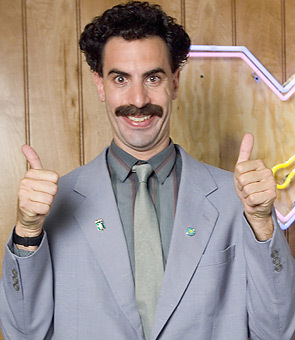 I will be a Borat. I come to US and A for celebrate Halloween. Nice!
