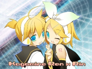 Kagamine Rin & Len of Vocaloid. I know Vocaloid is not anime, but Kagamine twins are cute :3