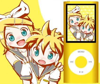 Hirasawa Yui & Ui (K-On!) Hiiragi Kagami & Tsukasa(Lucky Star) and Kagamine Rin & Len!! (Vocaloid)