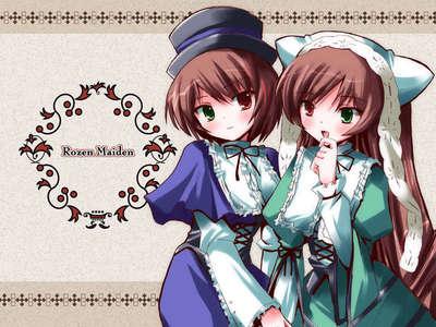 Suiseiseki and Souseiseki from the animê rozen maiden.