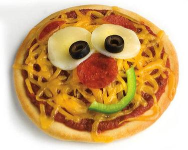 Food! Nah, just kidding. Um...pizza?