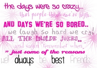 Like... all of my crazy friends! I admire their craziness! XD