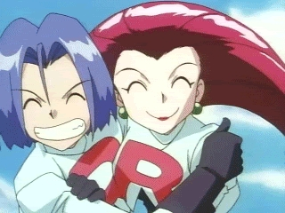Pokemon: Jessie and James, They are not together in the show. But I think they would make such a cute couple. Rocketshipping forever!!