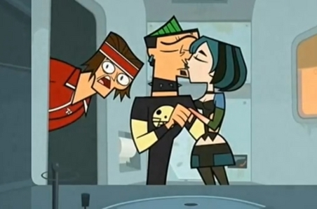 """Duncan and Gwen from """"Total drama world tour"""""""