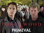 Primeval - Urgh, It's cheesy overated, guessable childish, plotless shit!! Unlike wonderful BRITISH Torchwood!! x