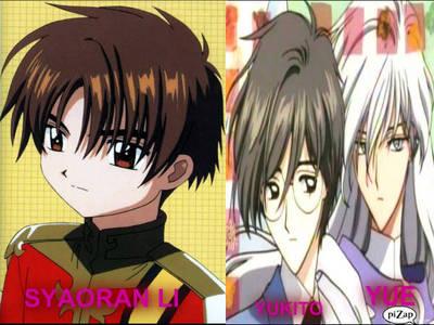 I wanna meet syaoran li and yue/yukito of card captor sakura...but I like syaoran the most...this is their picture:syaoran li and yukito/yue..