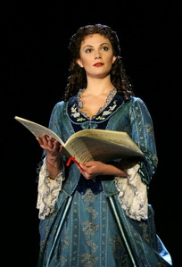 I'm being Christine Daae from phantom of the opera (the play.) Most people might not know who that is look up phantom of the opera the musical. Wait, here's a pic of her:)