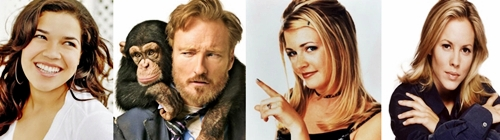 My birthday's on April 18th, and I share it with: America Ferrera Conan O'Brien Melissa Joan Hart & Maria Bello