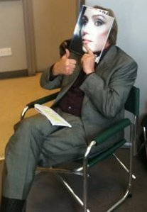 ok...here goes....x it's philip glenister messing around behind the scenes on the set of ashes to ashes. xx
