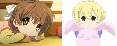 Cutest Girl-Ushio Furukawa~! <3 (Clannad) Cutest Boy-Honey~! <3 (OHSHC)  ~Other Cuties~ <3: Hanyuu [Higurashi] Rena [Higurashi] Nagisa Furukawa (Ushio&#39;s mother) [Clannad] Mei Sunohara [Clannad] Fuko Ibuki [Clannad] Shampoo [Ranma 1/2] Sakura [Maid-Sama] ~ Fay D. Flourite [Tsubasa:Revoir Chronicles] Shippo [InuYasha] Ryoga Hibiki [Ranma 1/2]  Gah! Too many cute people! xD