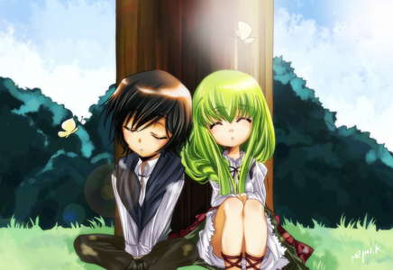 the most cutest anime character in girl is c.c 
