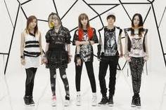 f(x) from left to right: luna, sulli (she's wearing a wig), victoria, amber, krystal this is their look form their mv nu-abo