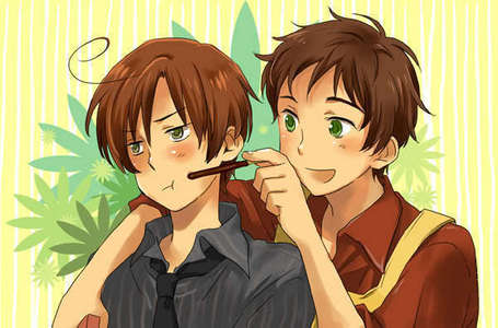 spaghetti sauce. <3 (Sorry, I've been watching Hetalia too much xD This is South Italy and Spain <3)