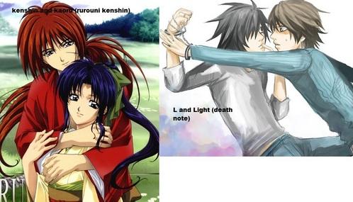 l and Light Yagami :D ~Kuroi kenshin and kaoru ~Ryuu dont have one ~Heru