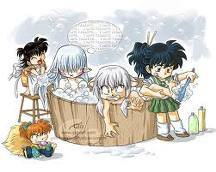 i'd go out with the 1 and only inuyasha...or of course kiba inuzuka from naruto hehe =^.^= lol i luv this pic of fluffy in pain ROFL