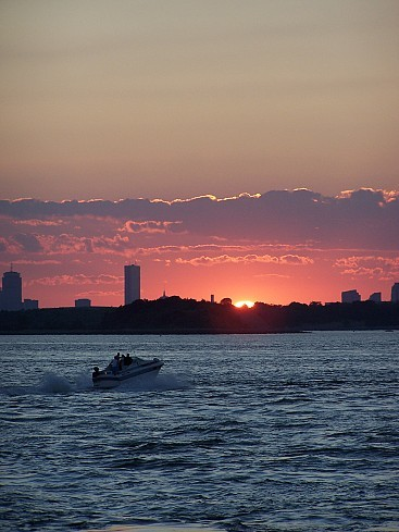 This Is A Beautiful Sunset Over Boston.