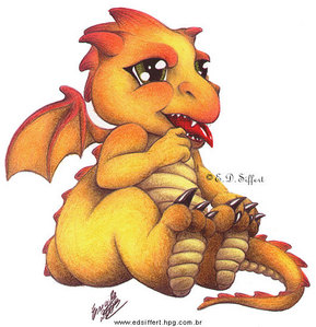 How bout a cute baby dragon? :3