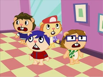The Fall Out Boy members in Happy albero Friends :D