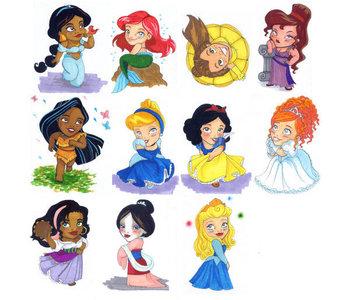 I Love The Disney Princesses.