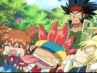 Here's one :D and here's another funny pic from the same Anime http://images4.fanpop.com/image/photos/16200000/Nana-s-Super-Kick-bakukyu-hit-crash-b-daman-16286755-320-240.jpg