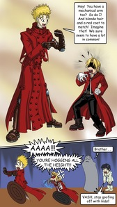Vash the Stampede from Trigun of Edward Elric from FMA! I think Vash is funnier though >w<
