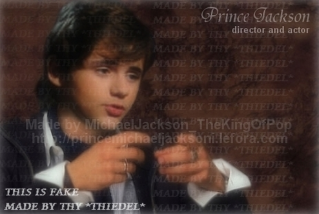 Me:Oh my, your Prince Michael Jackson! Prince: Ya im Michael Jacksons son... Me:Can tu take me to your place Id like to get to know tu better! Prince: Um okay... *Wraps arms around waist and head on chest* *Jacksons House* Prince: Grandma look what I brought home! *Arms still locked* Grandma: Oh youve got another little friend,Perfect! Thats How it would go on from there Left hand: his wedding ring I gave 'em LoL :( ;) JKJK