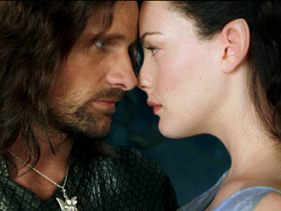 Arwen and Aragon from the lord of the rings they are so beautiful <3