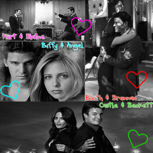 Hmm difficult question. My four main favourites are: [i]Booth & Brennan[/i] (Bones) [i]Kurt & Blaine[/i] (Glee) [i]Castle & Beckett[/i] (Castle) [i]Buffy & Angel[/i] (Buffy the Vampire Slayer) But I can't possibly choose OTP because I Любовь them all equally!