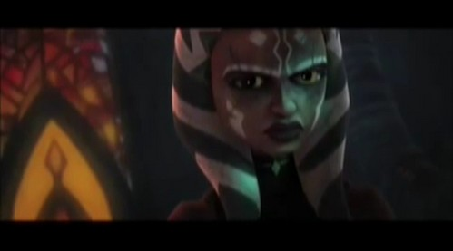 Well the series will have at least 5 season so I'm sure it's only tempoary like mind control. **EDIT** I have a few reasons why it's most likly temporary Yeah I was thinking along the same thing. I have a feelinng it's temporary. For sevreal reasons. 1. The actress who plays Ahsoka is recoring Season 4 and says she feel's that Ahsoka is far away from the Darkside. 2. Anakin wouldn't have gone to the Darkside if his Padawan went because he'd pry kill her. 3. Previews are sometimes meant to throw 당신 off. 4. If 당신 look at her face in the pictue at the bottom her face is covered with something as if she has the Blue Shadow Virus again 또는 something of the sort. 또는 something like the Geinosain brain worms that haunted the Clones and Barris. And look how her eyes are yellow, I know this happened to Anakin in Episode III but that might be a not so good change. We don't know but I think it's temporary.