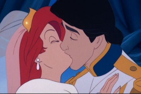 Gotta be that ending where Ariel and Eric marry and share true love's kiss now that was what I call a happy ending.