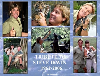 I think of Steve Irwin, May he rest in peace.