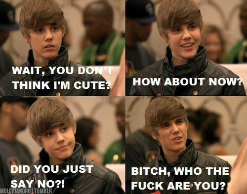 I think its funny, even though I luv JB, makes me laugh every time.
