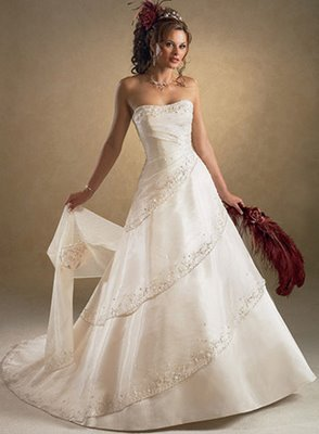 thanks this really helps me to pass the time, when im older one of the many things that i want to be is a wedding dress designer, lol! I dont think i would wear this one but it is one of my favs hope u all like it!! btw ignore the person actually wearing it...