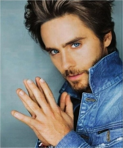 Jared Leto :) Yeas his eyes are really that blue!!