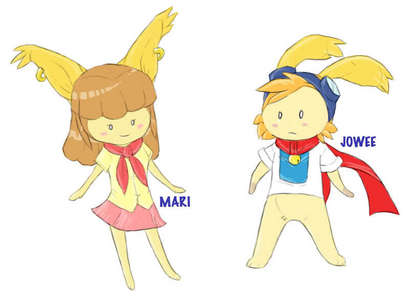 Hmm.. I'd have to say: Mari and Jowee from [i]Drawn To Life[/i]. [DS game]