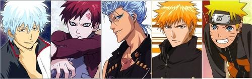 1.Gin_______2.Gaara_________3.Grimmjow_______4.Ichigo________5.Naruto