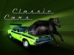 it is a टट्टू jumping out of a टट्टू car( a camero)