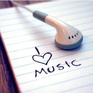 Listening to music.