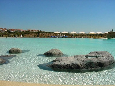 This is actually a Swimming pool-beach and, right اگلے to this, there's a mall XD