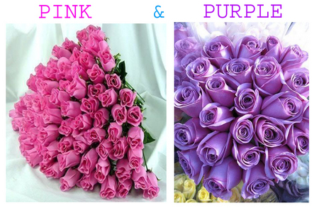 ANYTIME, ANYWHERE,MY FAVORATE COLOUR WILL BE 'PINK'and'PURPLE'.secondly i like BLUE GREEN and NOT SO DARK RED AND ALL OTHER BRIGHT COLOURS.