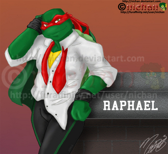 Aint no maybe about it. RAPHAEL! I would be Mrs. Raphael Splinter!!! He'd stand up for me and he looks pretty darn good in a shirt. DON'T HE LOOK SEXY!!!