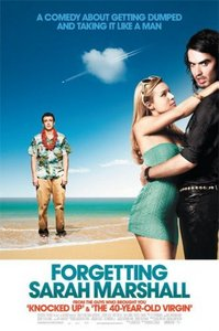 I have a lot of お気に入り movies. I 愛 all the Harry Potters, Burlesque, & a lot of other stuff. But one of my all-time favs is Forgetting Sarah Marshall. I 愛 it because, not only is my huge crush Russell Brand in it, but it's a good story. I 愛 romantic comedies, especially ones with a meaning, & this one does have a meaning. It's about a guy named Peter (played によって the hillarious Jason Segal), who's sweet but kinda a whimp in my opinion, & the movie starts with his girlfriend, sexy crime-fighting actress Sarah Marshall (played によって the wonderful Kristen Bell) dumps him pretty hard. He dosen't know what to do, he thinks he can't live without her, so a friend of his tells him to go on a vacation in Hawaii. All is fine, untill he akwardly runs into Sarah & her new boyfriend, Aldous Snow (played によって the sexiest, most talented, most wonderful man on the planet, Russell Brand)& they are staying at the same resort as he is. Peter is going crazy, he spies on them & does a lot of other hillarious stuff. It's one of those 映画 that everyone will like, & it has great 音楽 in it too.