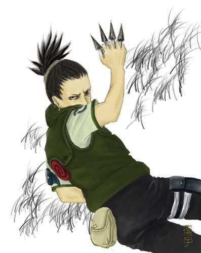 1. Shikamaru Nara! (Naruto) 2. Drew (pokemon) 3. Harley Hartwell (Case Closed) 4. Usui (Kaichou wa Maid-Sama) 5. Rock Lee (Naruto)