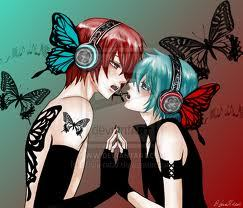 These two man-whores right here ;D XD I dunno who to credit the pic to,but it's from DeviantArt ^^; MIKUO HATSUNE AND AKAITO SHION!<3