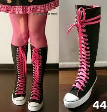 I wore my knee-high converse!! ♥♪☺☻♥♪♥ i 愛 them this much: ( )