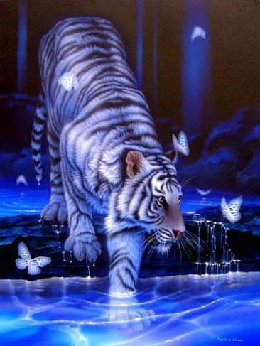 A white tiger. I think they're beautiful.:)